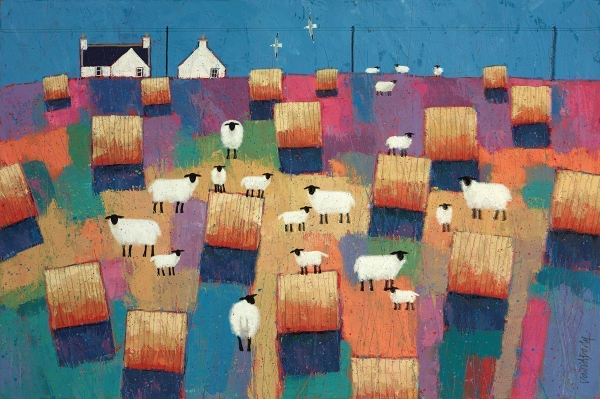 Round Bales by David Body -  sized 30x20 inches. Available from Whitewall Galleries